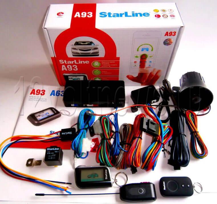 Комплектация сигнализации Старлайн A93
